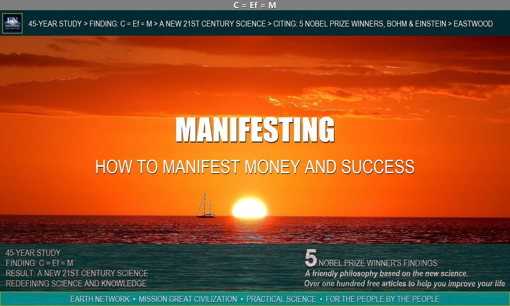 Beautiful sunset depicts how you materialize money and manifest success with positive thinking.