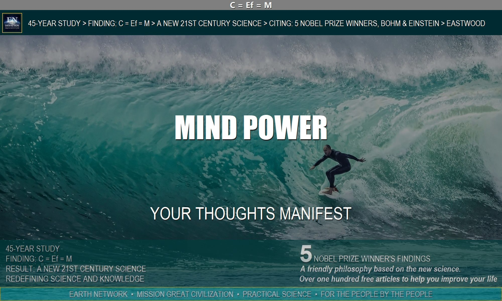 What is the power of the mind? Man surfing giant wave manifested the experience with his thoughts.