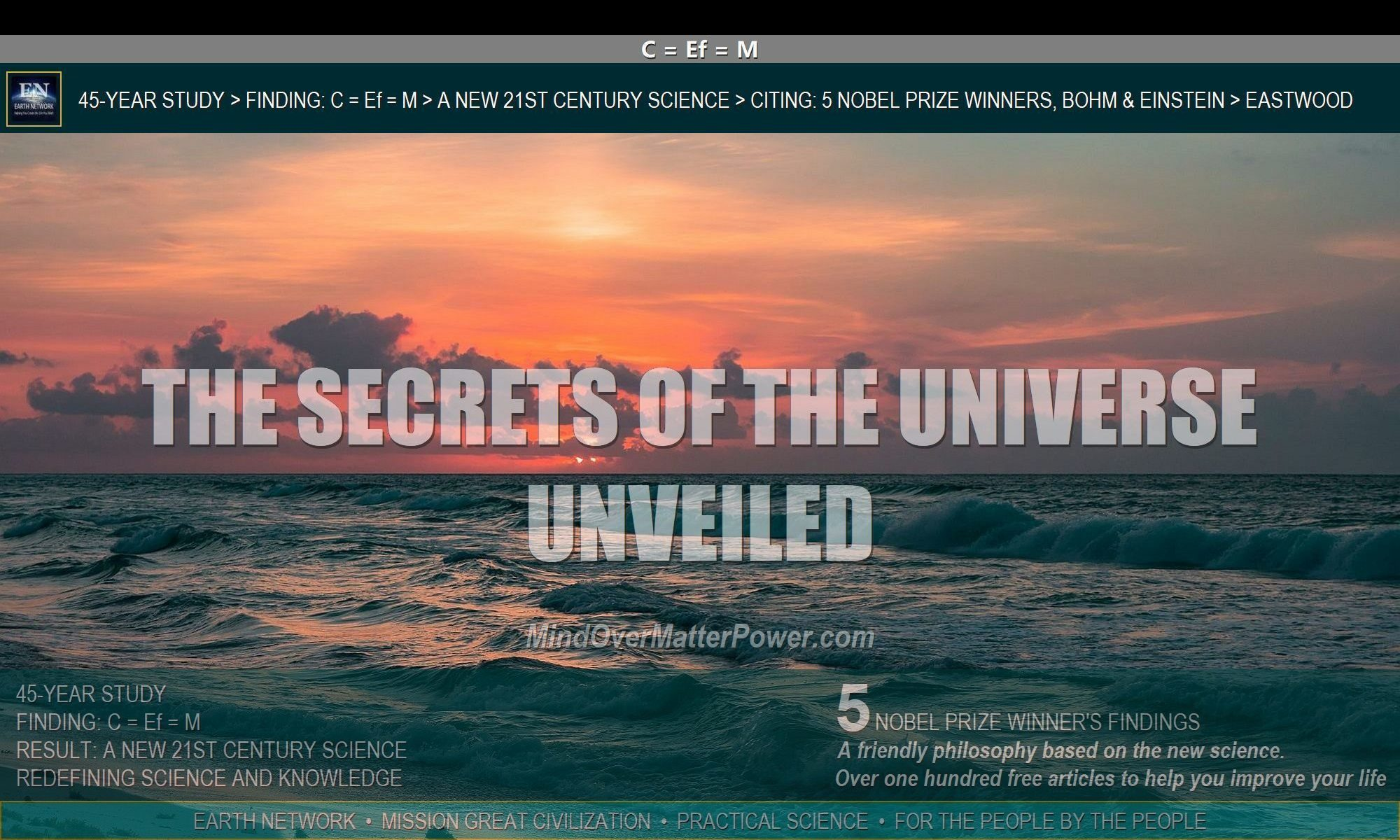 Mysterious ocean begs the question how can I create what I want? The secrets of the universe reveal how you can materialize anything.