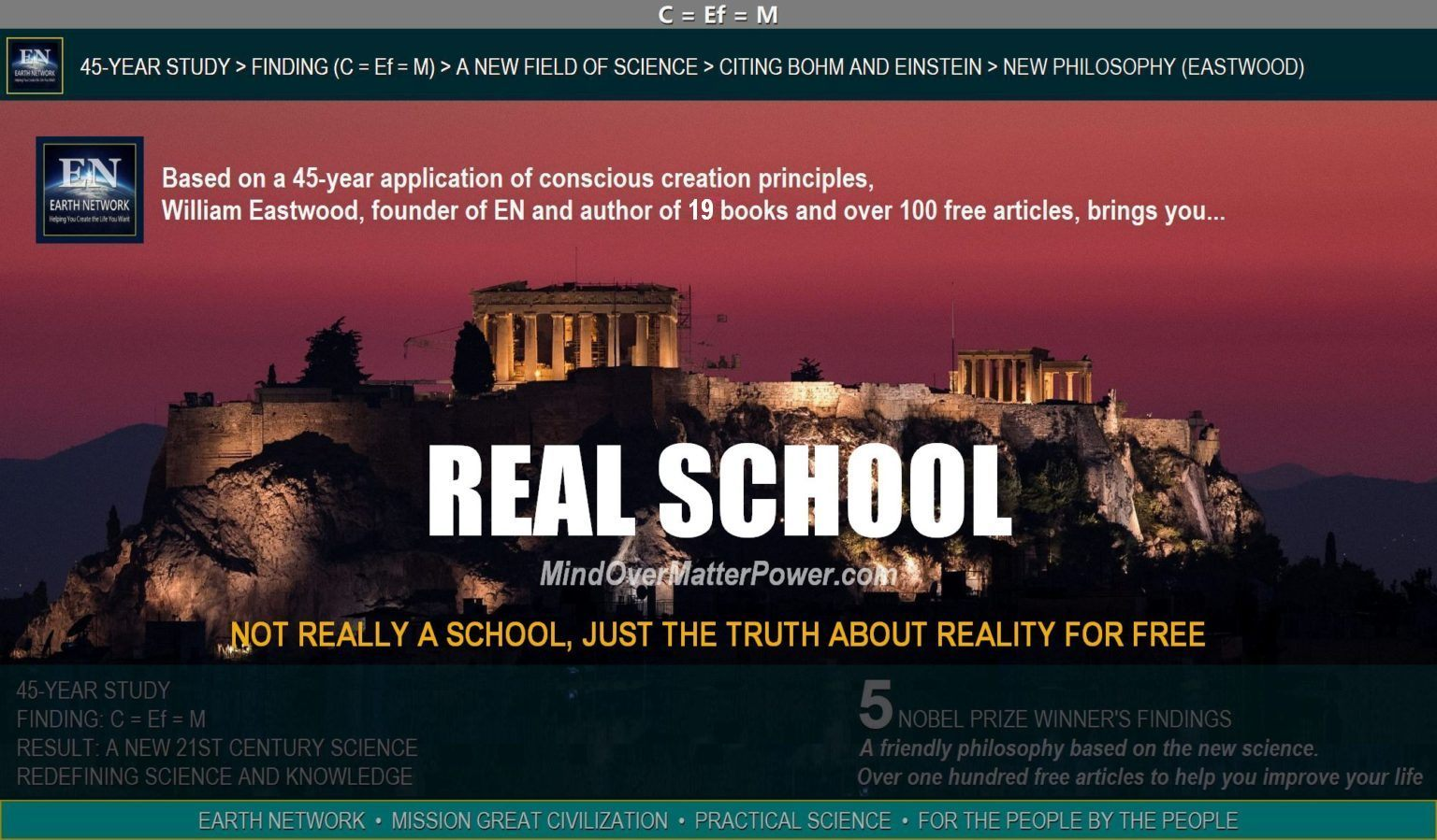 Greek Parthenon depicts ancient mind over matter knowledge and metaphysical philosophy consciousness science Thoughts can and do form and create matter.