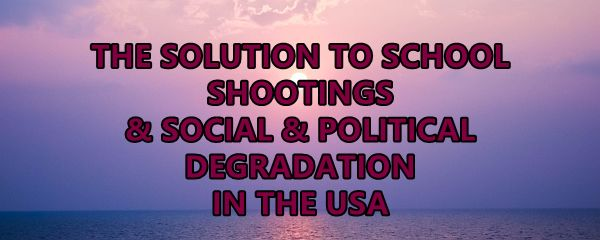 We can stand up to division and hatred in America and stop school shootings in violence