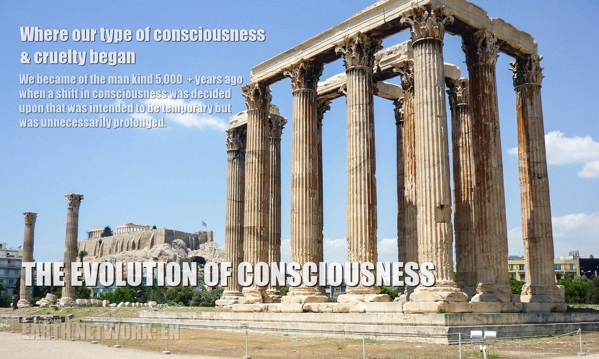 Greek ruins depicting origins of our type of consciousness