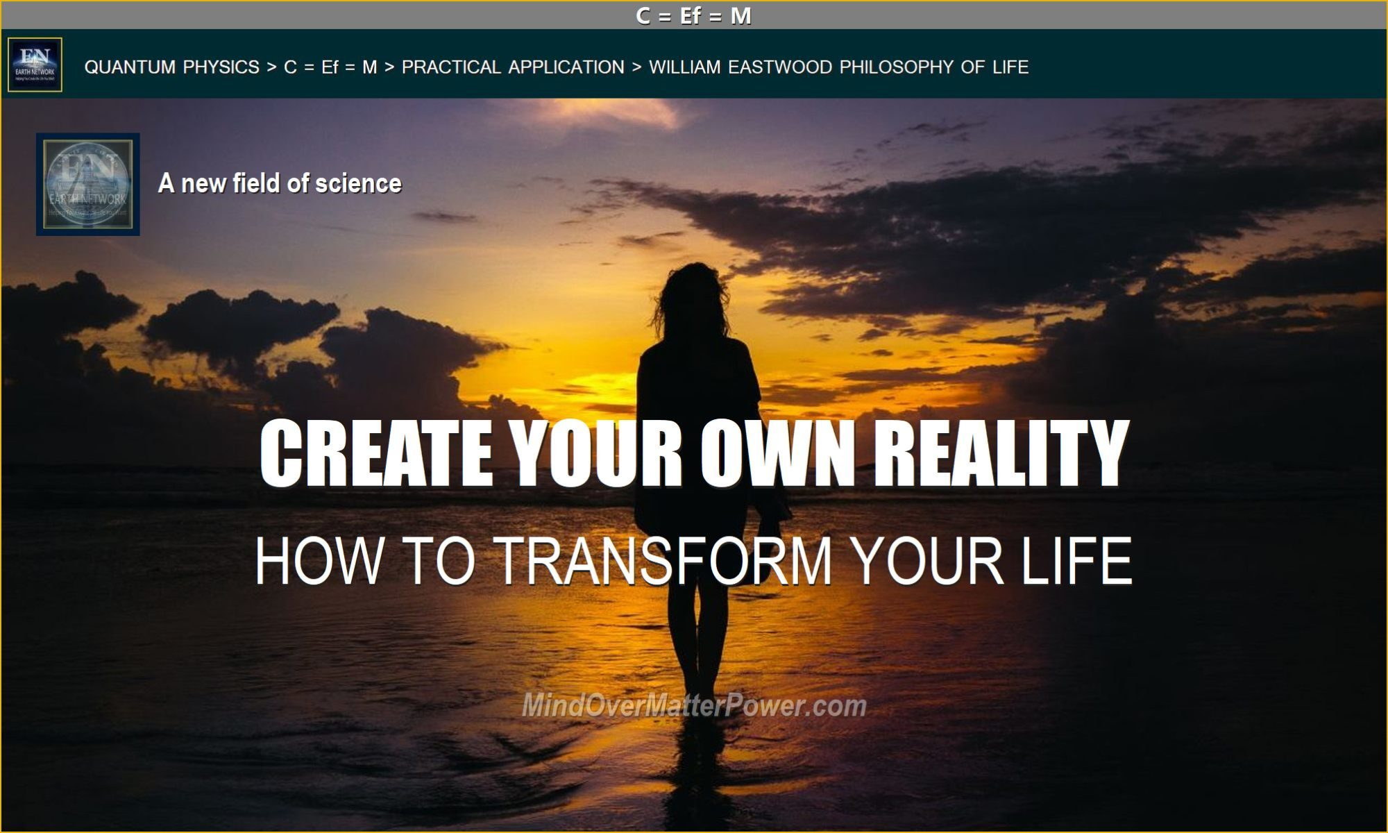 Woman on beach depicts you-can-create-your-own-reality-manifeting-metaphysics-how-to-transform-you-life-reality