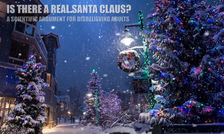 Real winter scene of north pole town in Colorado which is magical