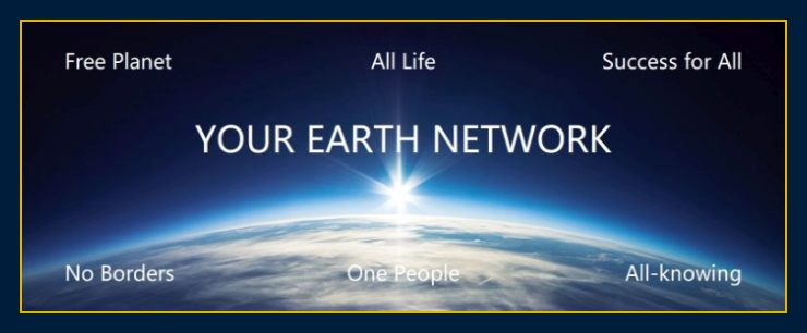 Image of sun rising over earth depicts About us and Earth Network thoughts create matter and our mission and science people deserve.