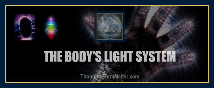 Photos of light emanating from the body