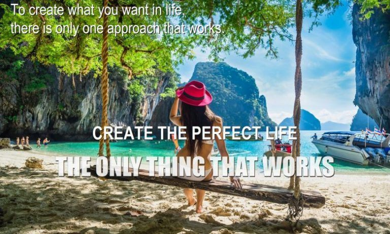 woman in paradise knows how to manifest positive thinking materialize thoughts and emotions