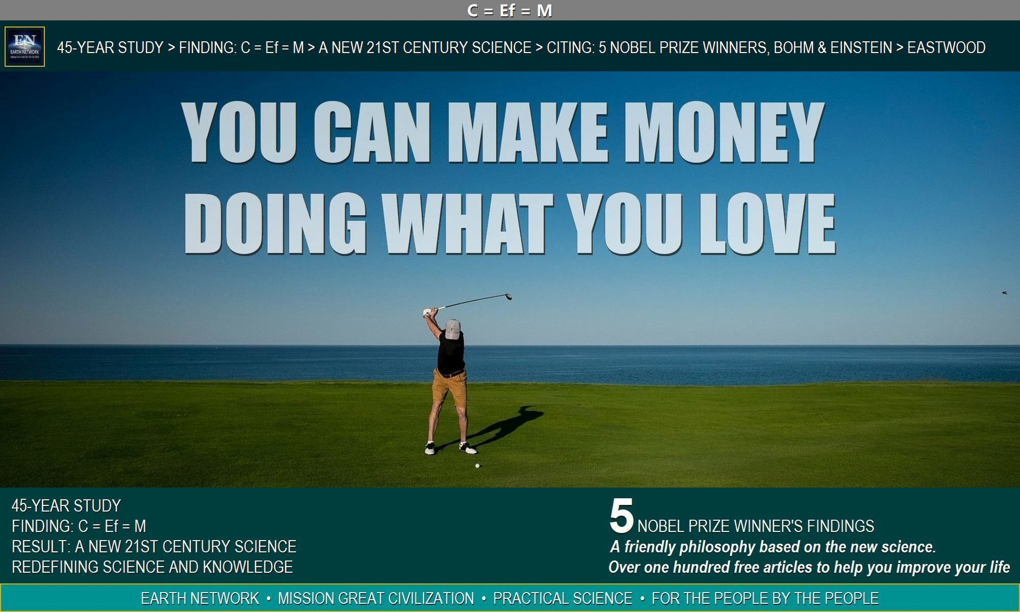 Golfer knows how to make money doing what he loves as his profession.